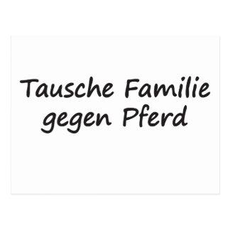 Tausche Familie gegen Pferd Postcard