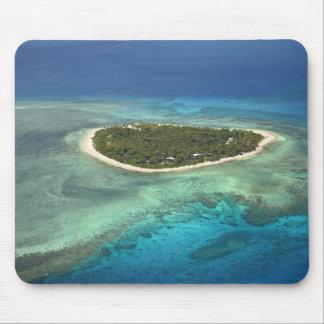 Tavarua Island and coral reef, Mamanuca Islands Mouse Pad
