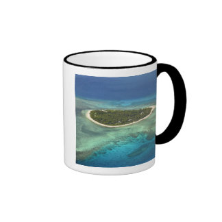 Tavarua Island and coral reef, Mamanuca Islands Ringer Coffee Mug