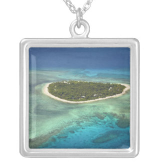 Tavarua Island and coral reef, Mamanuca Islands Custom Jewelry