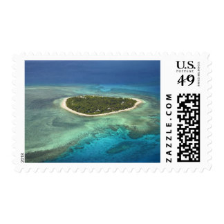 Tavarua Island and coral reef, Mamanuca Islands Postage