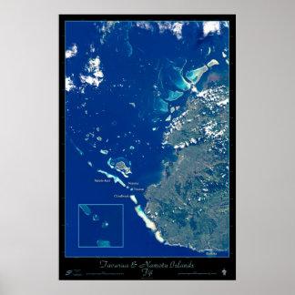 Tavarua & Namotu Islands, Fiji satellite poster