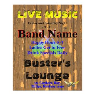 Tavern Bar Club Live Music 3 Custom Flyer
