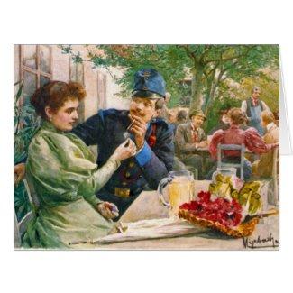 Tavern Garden 1896 Card