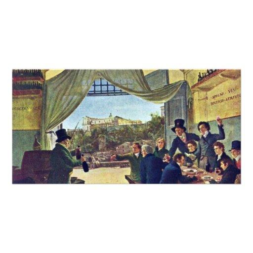 Tavern Scene By Cornelius Peter Von (Best Quality) Photo Card