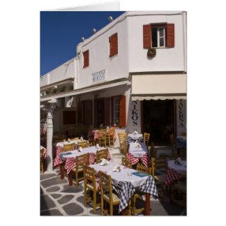Taverna Nikos, Mykonos, Cyclades Islands, Greece Card
