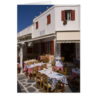Taverna Nikos, Mykonos, Cyclades Islands, Greece Greeting Card