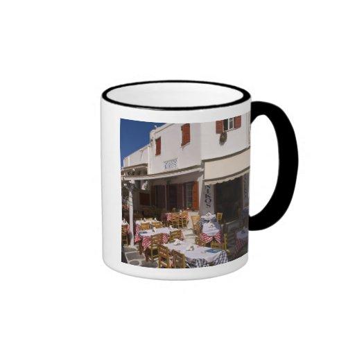 Taverna Nikos, Mykonos, Cyclades Islands, Greece Ringer Coffee Mug