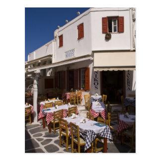Taverna Nikos, Mykonos, islas de Cícladas, Grecia Postal