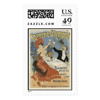 Taverne Olympia, Jules Cheret Stamp