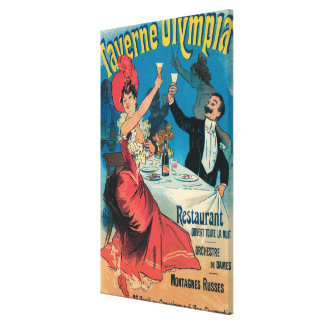 Taverne Olympia Promotional Poster Canvas Print