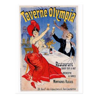 Taverne Olympia Vintage Restaurant Ad Art Postcards