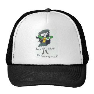 Tavi Diva Back Off Picture Trucker Hat