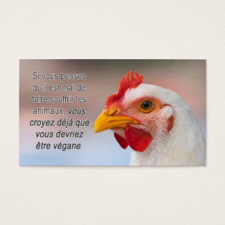 """TAVS """"Why veganism?"""" Business Cards in French"""