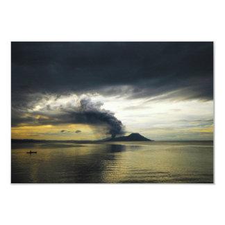 Tavurvur Volcano Rabaul Caldera Erupting Custom Invite