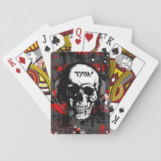 taw skull playing cards