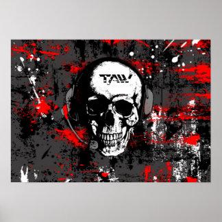taw skull poster
