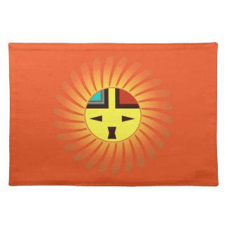 Tawa Kachina - Sunface Placemat Cloth Placemat
