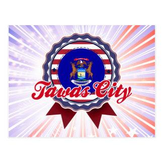 Tawas City, MI Postcard
