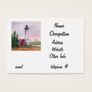 Tawas Point Light Business Card