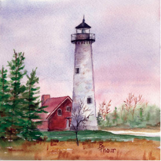Tawas Point Light Photo Sculpture