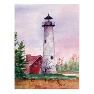 Tawas Point Light Postcard