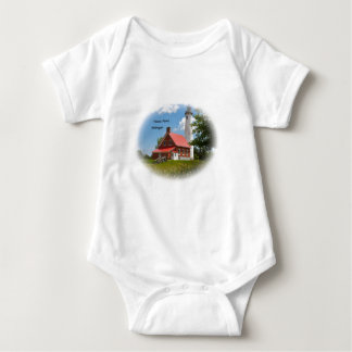 Tawas Point Lighthouse. Baby Bodysuit