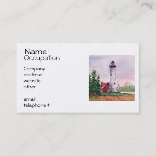 Lighthouse business cards zazzle tawas point lighthouse business cards colourmoves