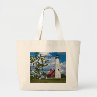 Tawas Point Lighthouse Large Tote Bag