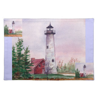 Tawas Point Lighthouse Placemat Cloth Placemat