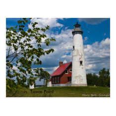 Tawas Point Lighthouse Postcard at Zazzle