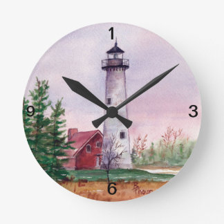 Tawas Point Lighthouse Wall Clock