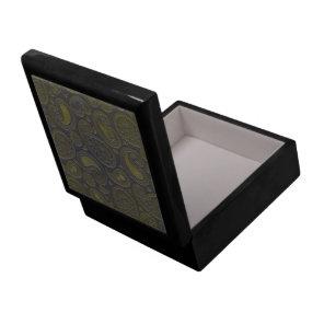 Tawny brown paisley design keepsake box