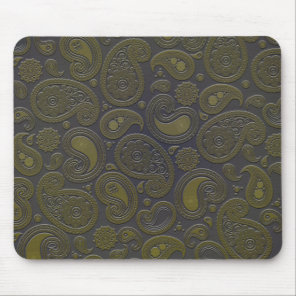 Tawny brown paisley design mouse pad