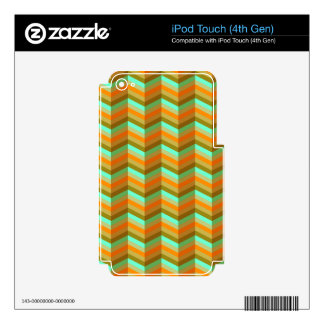Tawny Chevron Decals For iPod Touch 4G