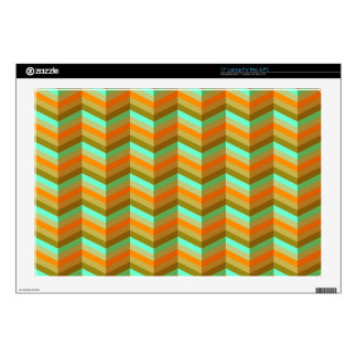 Tawny Chevron Decals For Laptops
