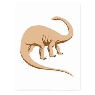 Tawny Colored Apatosaurus (a.k.a. Brontosaurus) Postcard