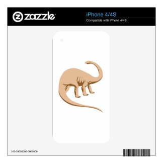 Tawny Colored Apatosaurus (a.k.a. Brontosaurus) Decal For iPhone 4S