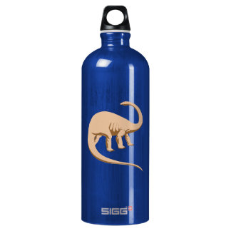 Tawny Colored Apatosaurus (a.k.a. Brontosaurus) Water Bottle