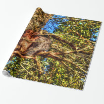 TAWNY FROGMOUTH OWLS AUSTRALIA ART EFFECTS WRAPPING PAPER