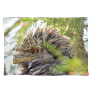 TAWNY FROGMOUTH RURAL QUEENSLAND AUSTRALIA CLOTH PLACEMAT