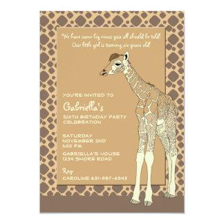Tawny Giraffe Invitation