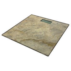 Tawny Gold Streaked marble stone finish Bathroom Scale