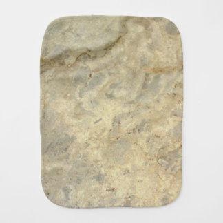 Tawny Gold Streaked marble stone finish Burp Cloth