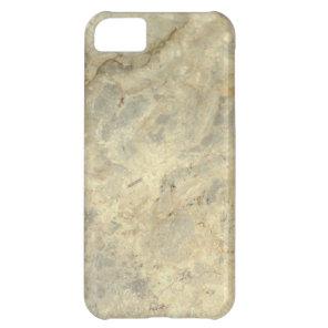 Tawny Gold Streaked marble stone finish Case For iPhone 5C