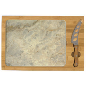 Tawny Gold Streaked marble stone finish Cheese Platter