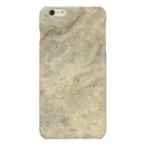 Tawny Gold Streaked marble stone finish Glossy iPhone 6 Plus Case