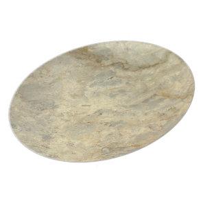 Tawny Gold Streaked marble stone finish Melamine Plate
