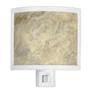 Tawny Gold Streaked marble stone finish Night Light