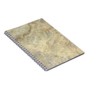 Tawny Gold Streaked marble stone finish Notebook